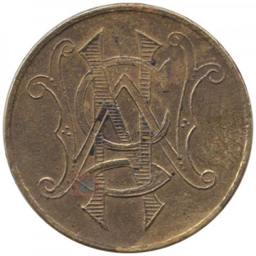 Unknown token 5 Cent obverse